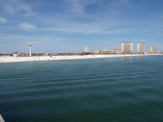 Pensacola Beach Gulf Pier: great view from the pier!