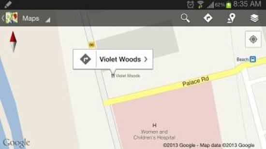 Just do a quick search on google maps for 'violet woods Restaurant' to locate us..