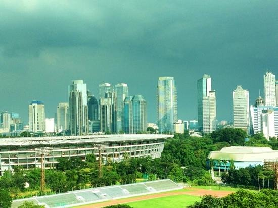 Hotel Mulia Senayan: view from our room