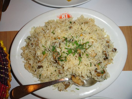 Indian Kitchen : Rice with mushrooms...
