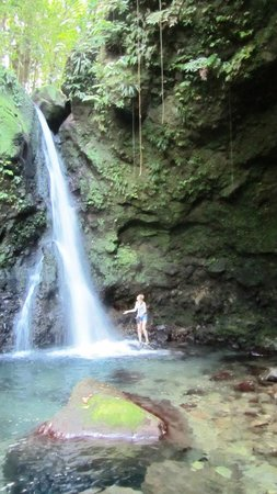 Calibishie Cove: One of many many waterfalls