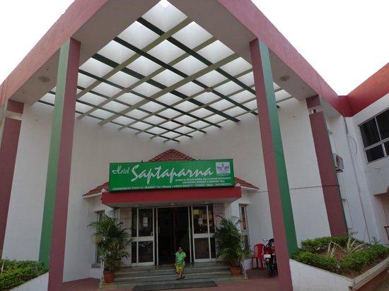 Hotel Saptaparna: The front