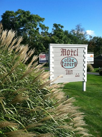 Olde Tavern Motel & Inn: sign shot, new color scheme, from road