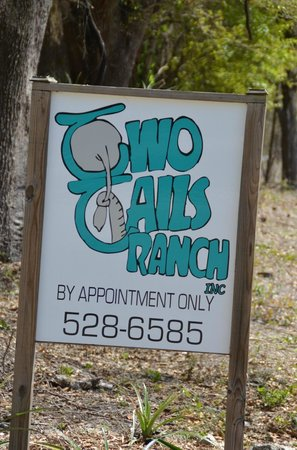 Two Tails Ranch: Watch carefully for the sign.