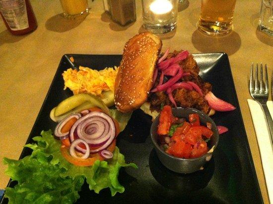 Moo : Pulle pork burger