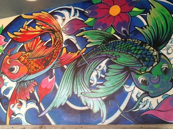 Chubs Subs and Wings : hand painted mural in chubs