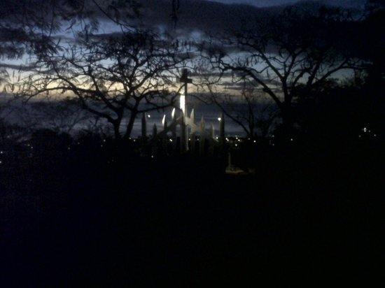 Morne Bruce by night (Catholic Cross in background)