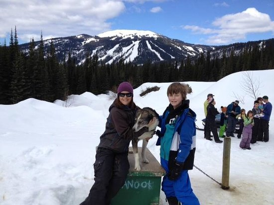 Mountain Man Dog Sled Adventures : Owner Taryn Rixon, Nanook and our son