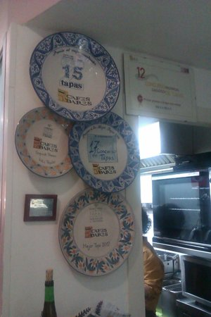 Restaurante Méli-Mélo: El rincón de los premios