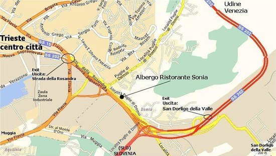 Albergo Ristorante Sonia: Mappa