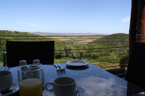 Zulu Nyala Game Lodge: View from the restaurant