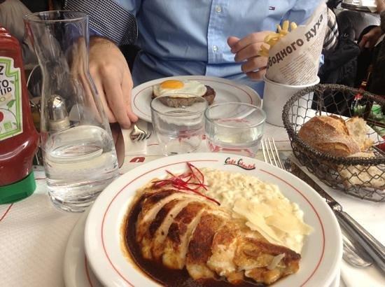 Cafe Charlot: pollo con rissoto