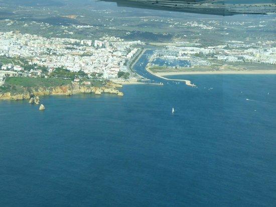 Flying Flexwings Microlight Flights: Lagos city & international yacht marina seen from a microlight