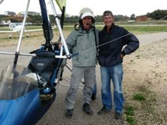 Flying Flexwings Microlight Flights: All flying gear is provided - Another happy customer!