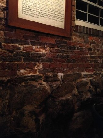 Newes From America Pub: Old brick walls