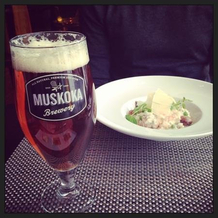 Taboo Muskoka Resort: mmmm muskoka beer at elements restaurant
