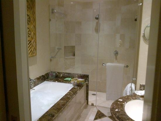 InterContinental Johannesburg OR Tambo Airport: the bathroom and shower are lovely