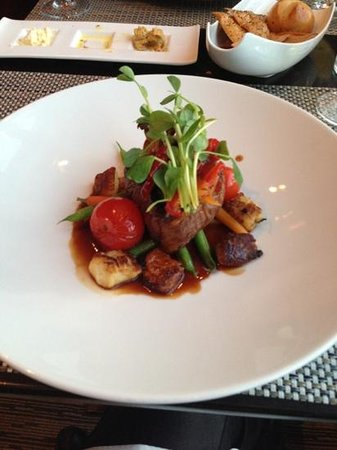 Taboo Muskoka Resort: tenderloin steak at elements restaurant all made with only local ingrdients