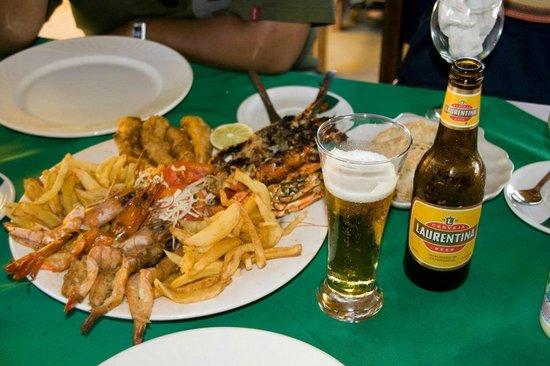 Inhaca, Mosambik: Seafood