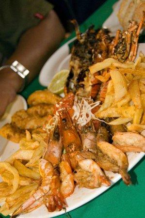 Inhaca, Mosambik: food