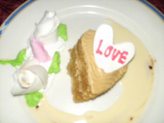 Gold Beach Resort: dessert per san valentino
