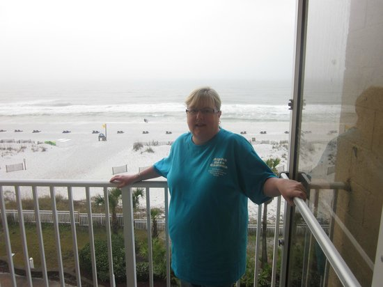 Hampton Inn Pensacola Beach: Balcony view