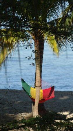 Nirvana on the Beach: One of the comfy hammocks on the beach.