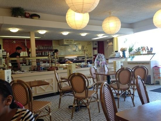 Dolly's Cafe: Enjoying the atmosphere inside.