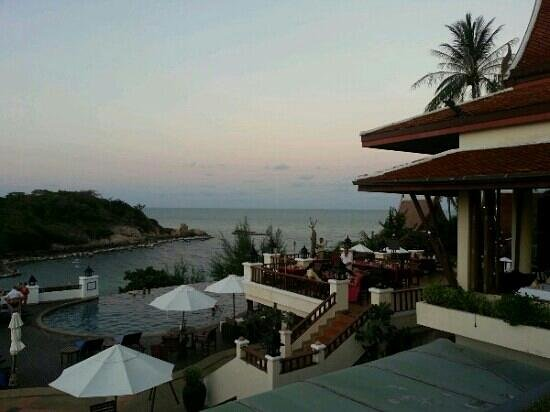 Q Signature Samui Beach Resort: overlooking the restaurant and pool