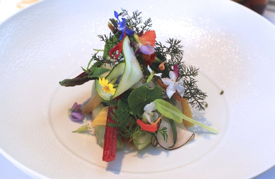 HERTOG JAN: Menu degustacion - the most beautiful SALAD in the world! :)