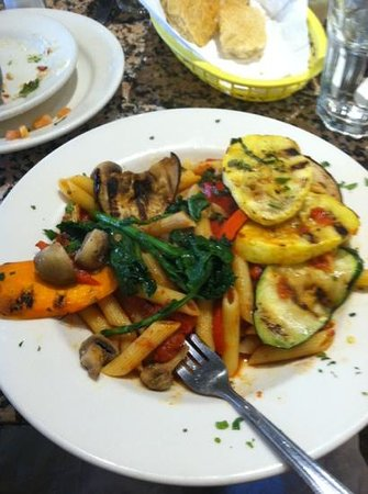 Pasta E Basta: penne with mixed grilled veggies