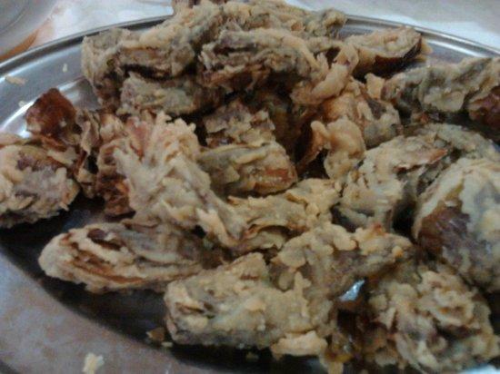 Trattoria Nasca : carciofi fritti in pastella
