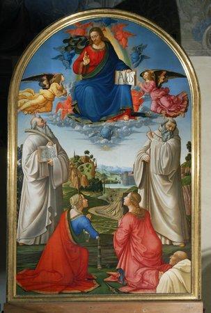Pinacoteca e Museo Civico: Domenico Ghirlandaio, Cristo in gloria, 1492
