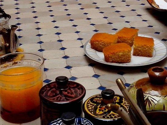 riad bianca : desayuno increible casero
