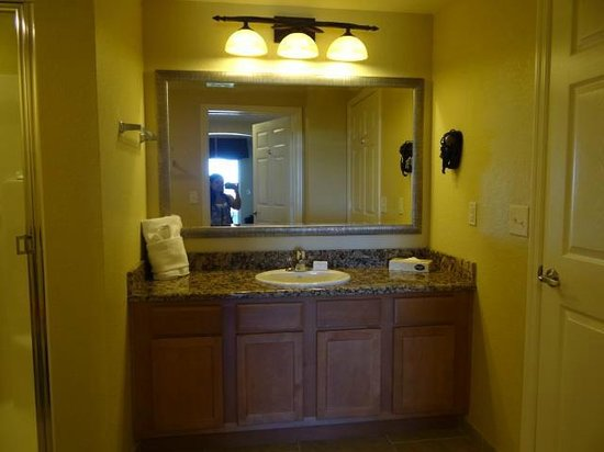 Vacation Village at Parkway: vanity/sink from bedroom doorway