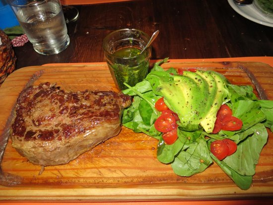 La Salamandra Pulpería: Ribeye, the best chimichurri in Argentina and an amazing salad
