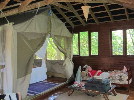 Sarova Mara Game Camp: Dad relaxing