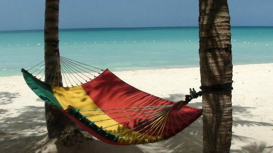 Nirvana on the Beach: This is one of the hammocks on the beach at Nirvana