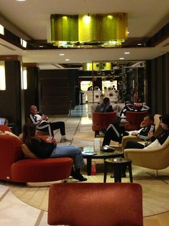 Renaissance Istanbul Polat Bosphorus Hotel: people in Lobby in Adidas wear…