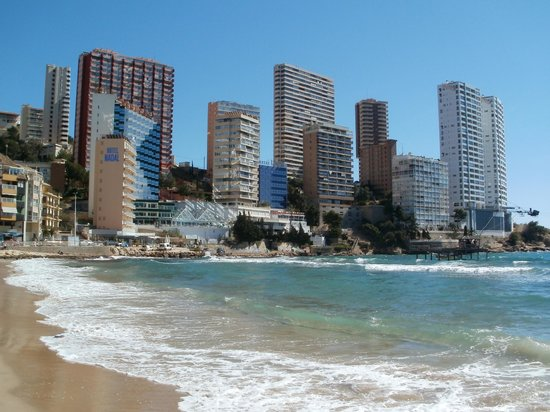 Playa de Levante: East end of beach