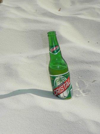 Sirena Beach : Cristal beer in a bottle Mmmm!!