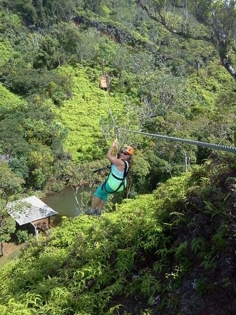 Zip Lining! Close to Hanalei Bay Resort!