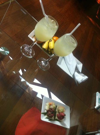 Heritage Suites Hotel: The welcome refreshment