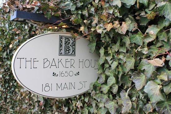 The Baker House 1650 : The Baker House sign