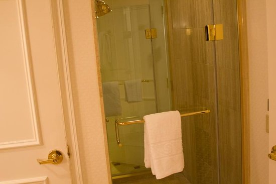 Caesars Palace: Clean Shower Stall With Dual Heads