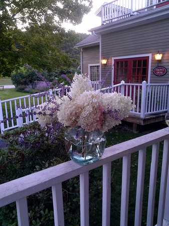 The INN at Willow Pond: Flowers at Dusk