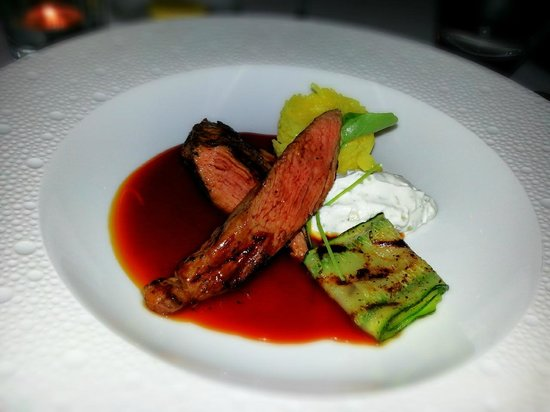 Charleston Restaurant : Lamb tenderloin, tasted great but I would've preferred a tad less sauce.