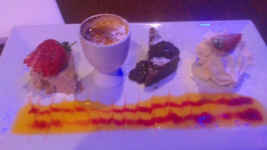 Jackson's Bistro: The Chef's Selection of desserts