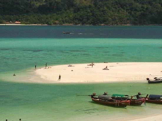 Mali Resort Pattaya Beach Koh Lipe: Lingua di sabbia