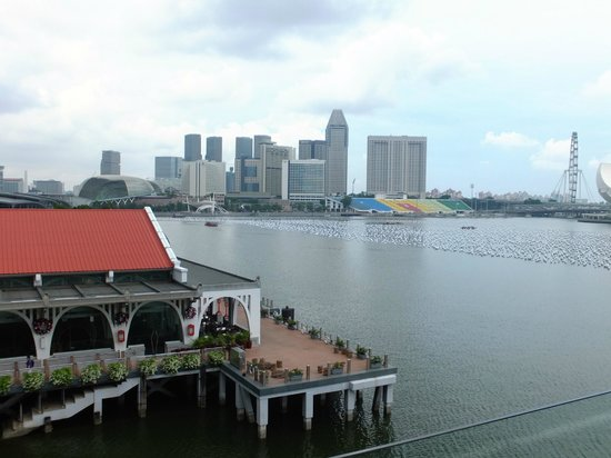 The Fullerton Bay Hotel Singapore: View from our room